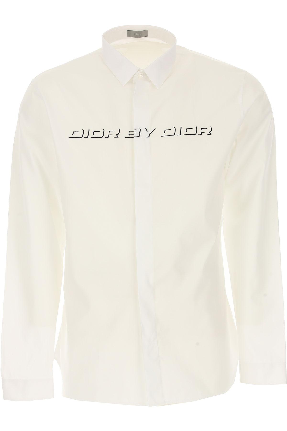 Christian Dior Chemise Homme, Blanc, Coton, 2017, 39 40 41