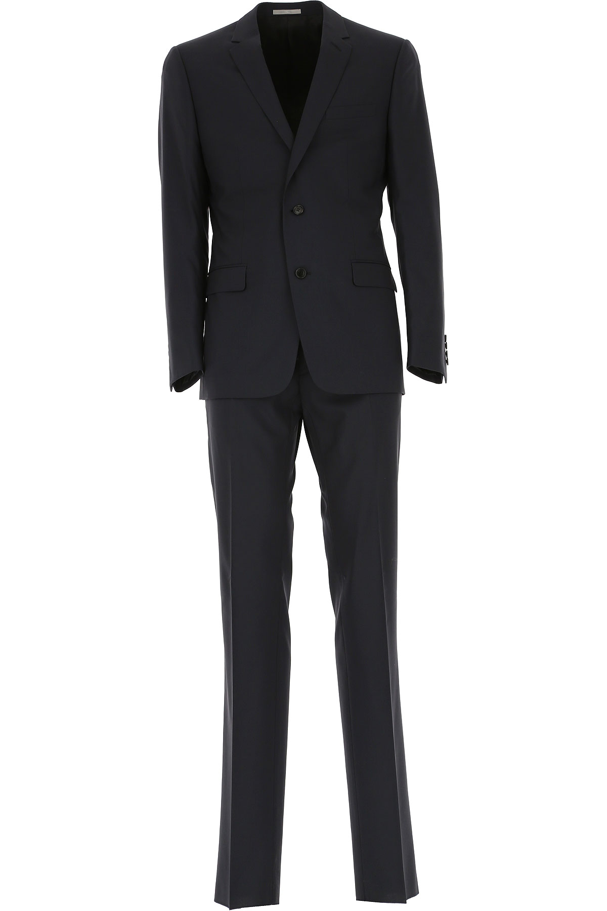 Image of Christian Dior Men's Suit, Blue Marine, Virgin wool, 2017, L M