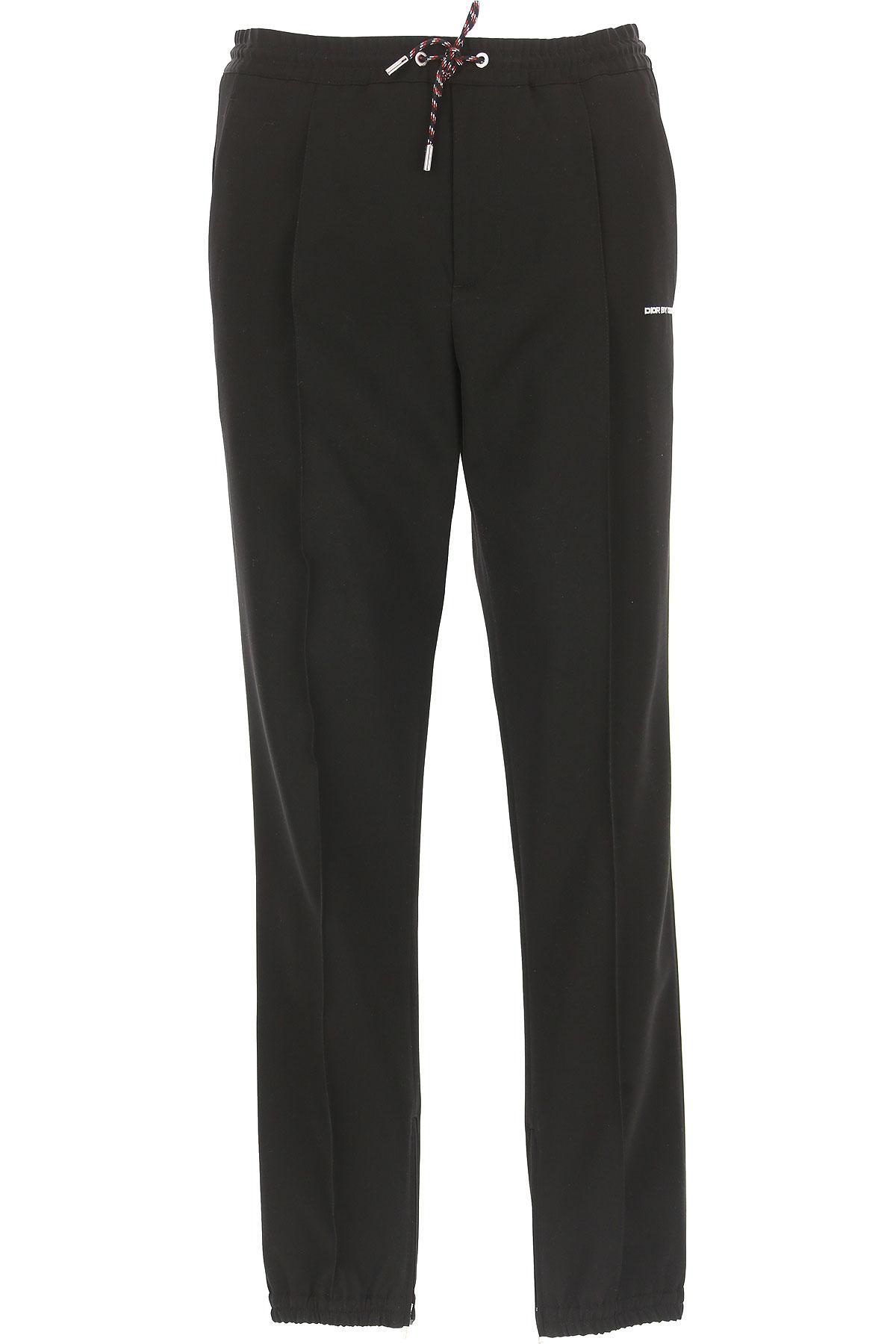 Christian Dior Pants for Men On Sale in Outlet, Black, Virgin wool, 2019, 30 34