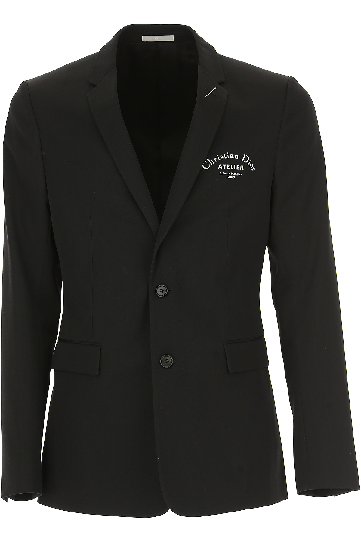 Image of Christian Dior Blazer for Men, Sport Coat, Black, Virgin wool, 2017, L M
