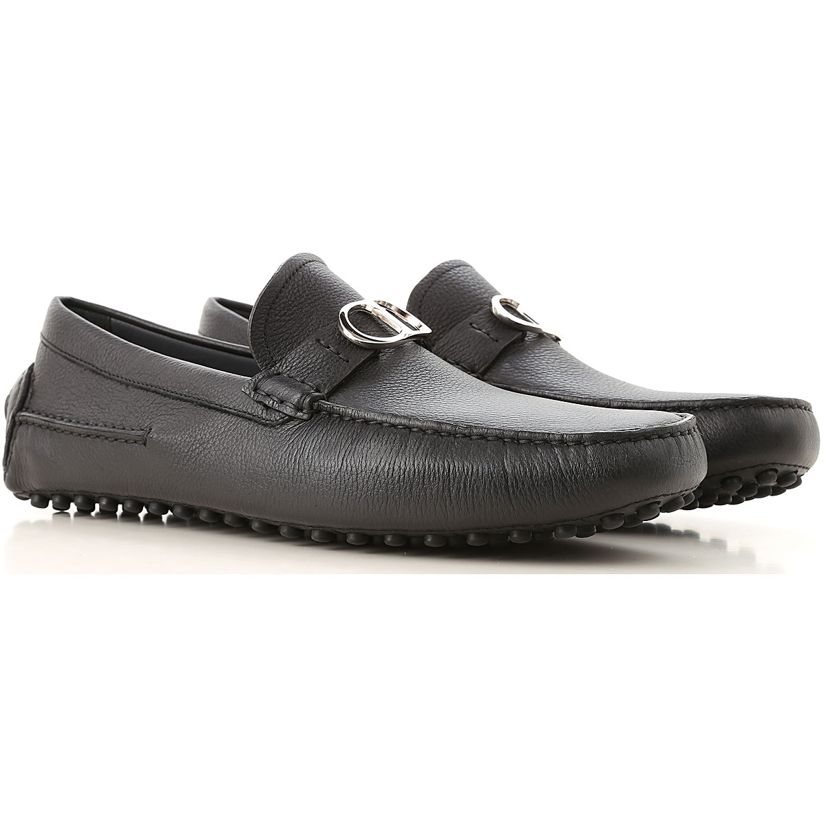 Image of Christian Dior Loafers for Men, Black, Leather, 2017, 7.5 9