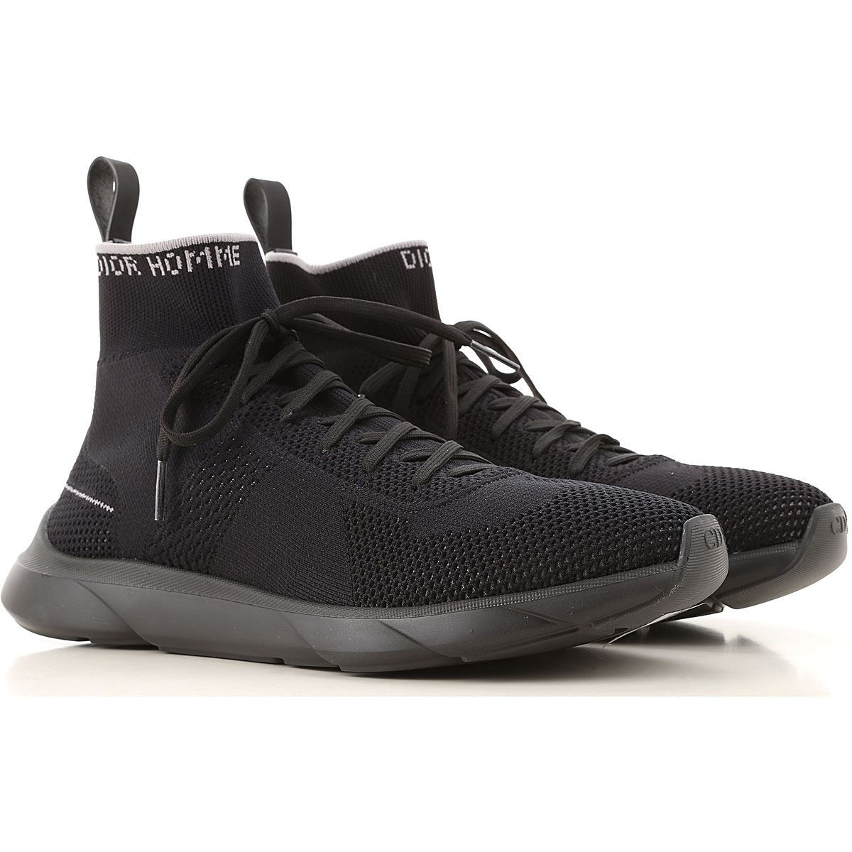 Christian Dior Sneakers for Men On Sale, Black, Knitted, 2019, 10.5 7.5