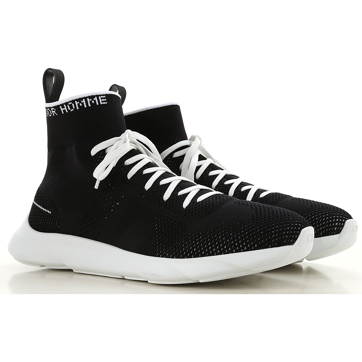 Christian Dior Sneakers for Men On Sale, Black, Knitted, 2019, 10 10.25 7.5 8 8.5 9