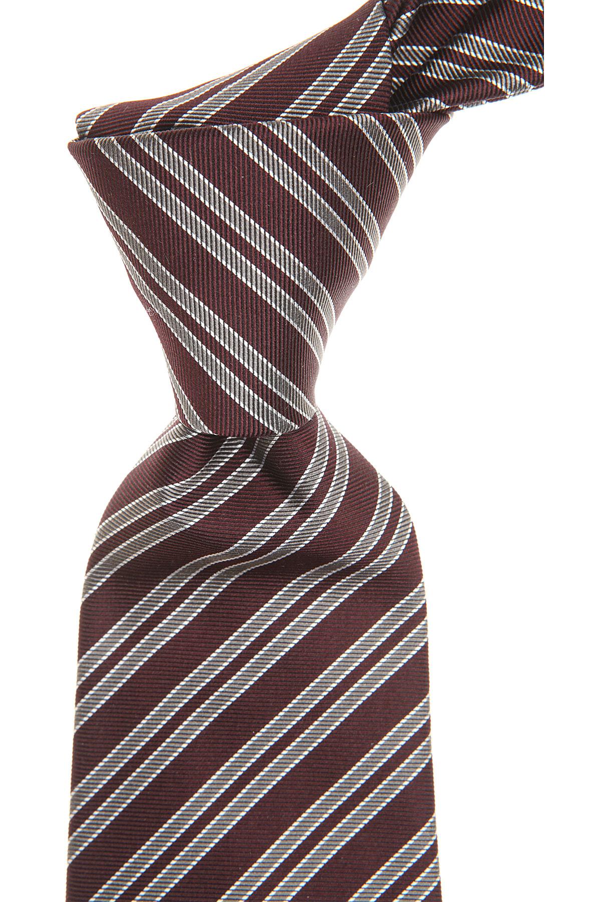 Cravates Christian Dior Pas cher en Soldes, Rouge sang de boeuf, Soie, 2017