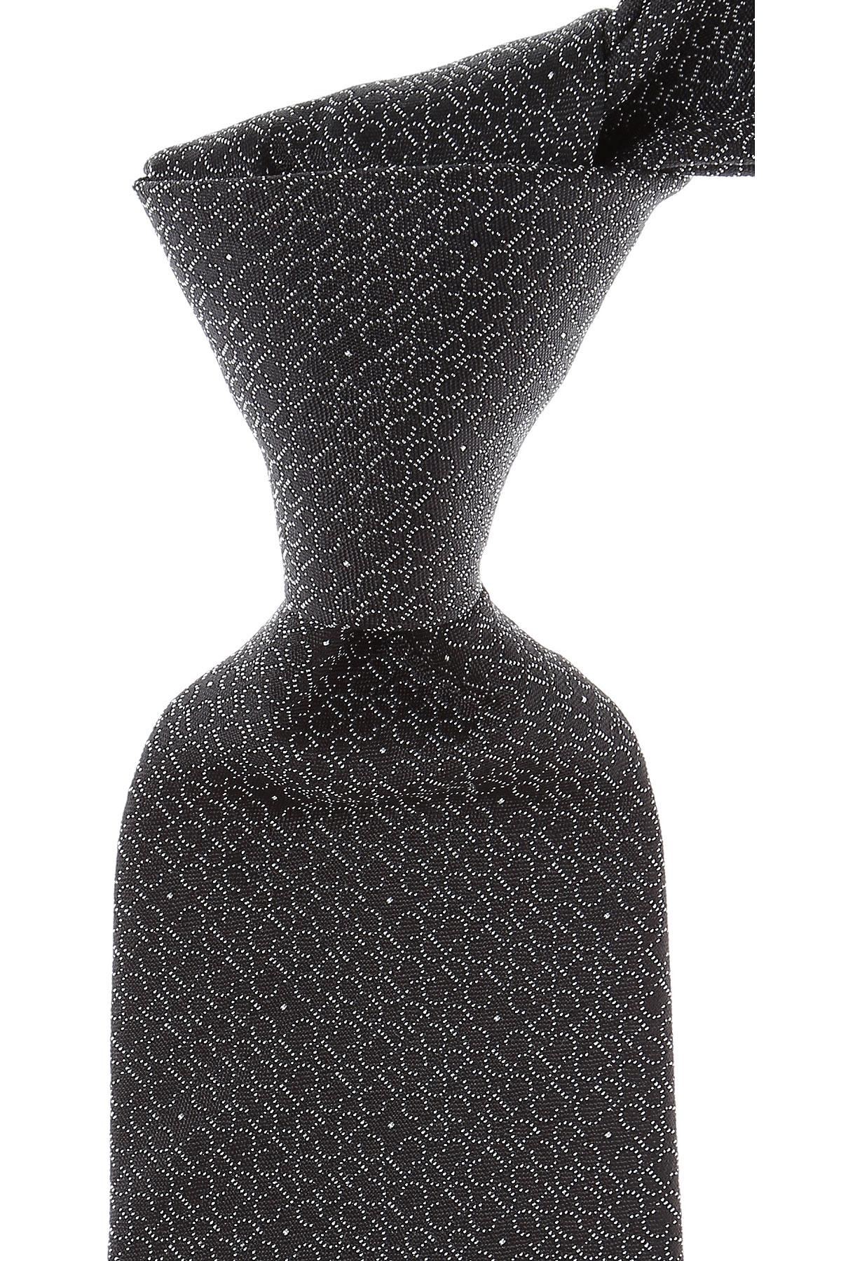 Cravates Christian Dior Pas cher en Soldes, Noir, Soie, 2017