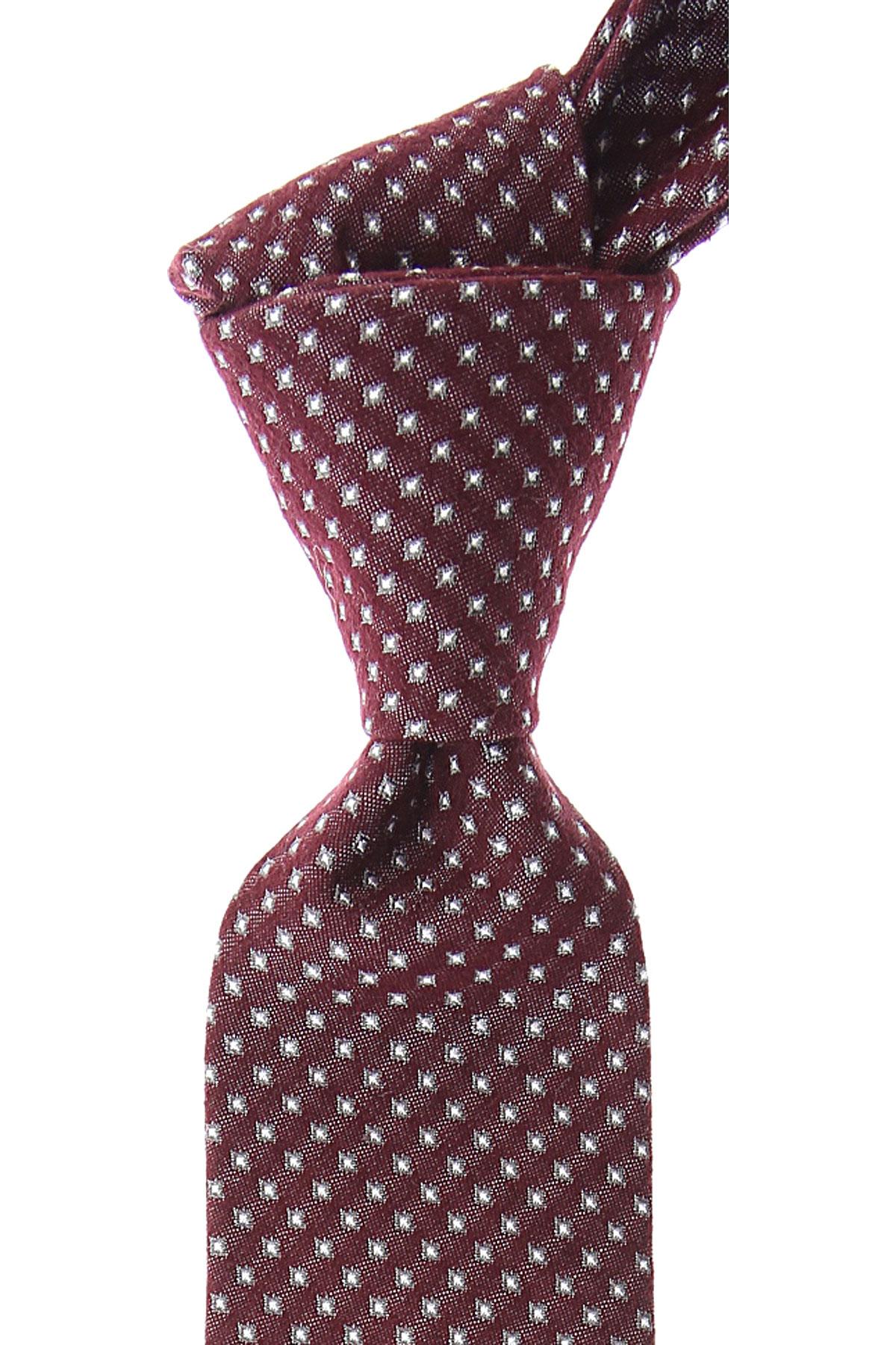 Christian Dior Cravates Pas cher en Soldes, Bordeaux, Soie, 2019