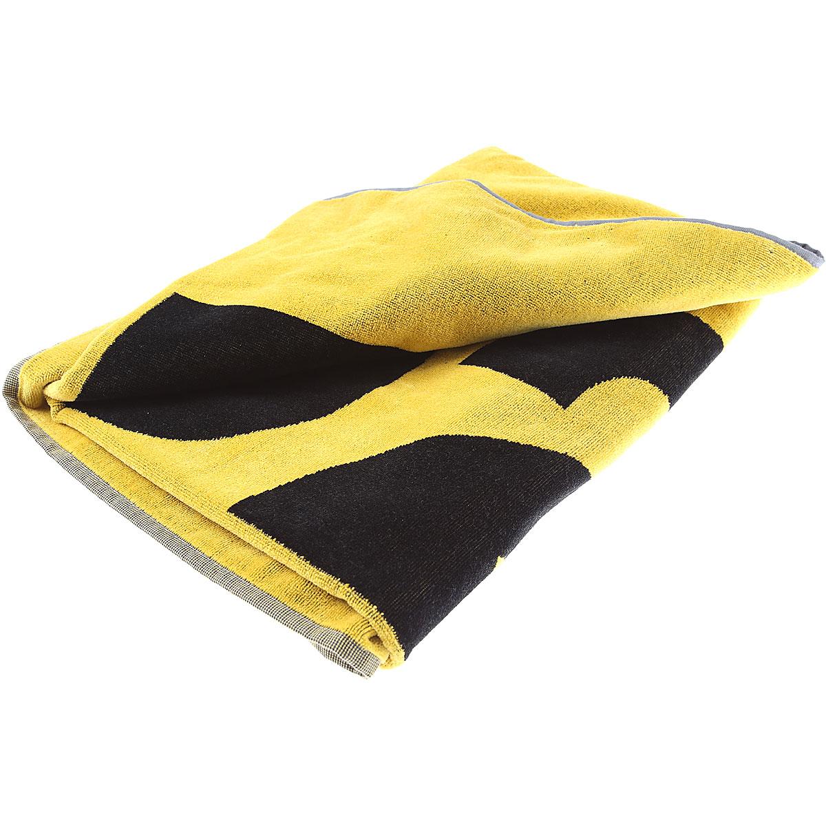 Dsquared2 Beach Towel, Black, Cotton, 2019