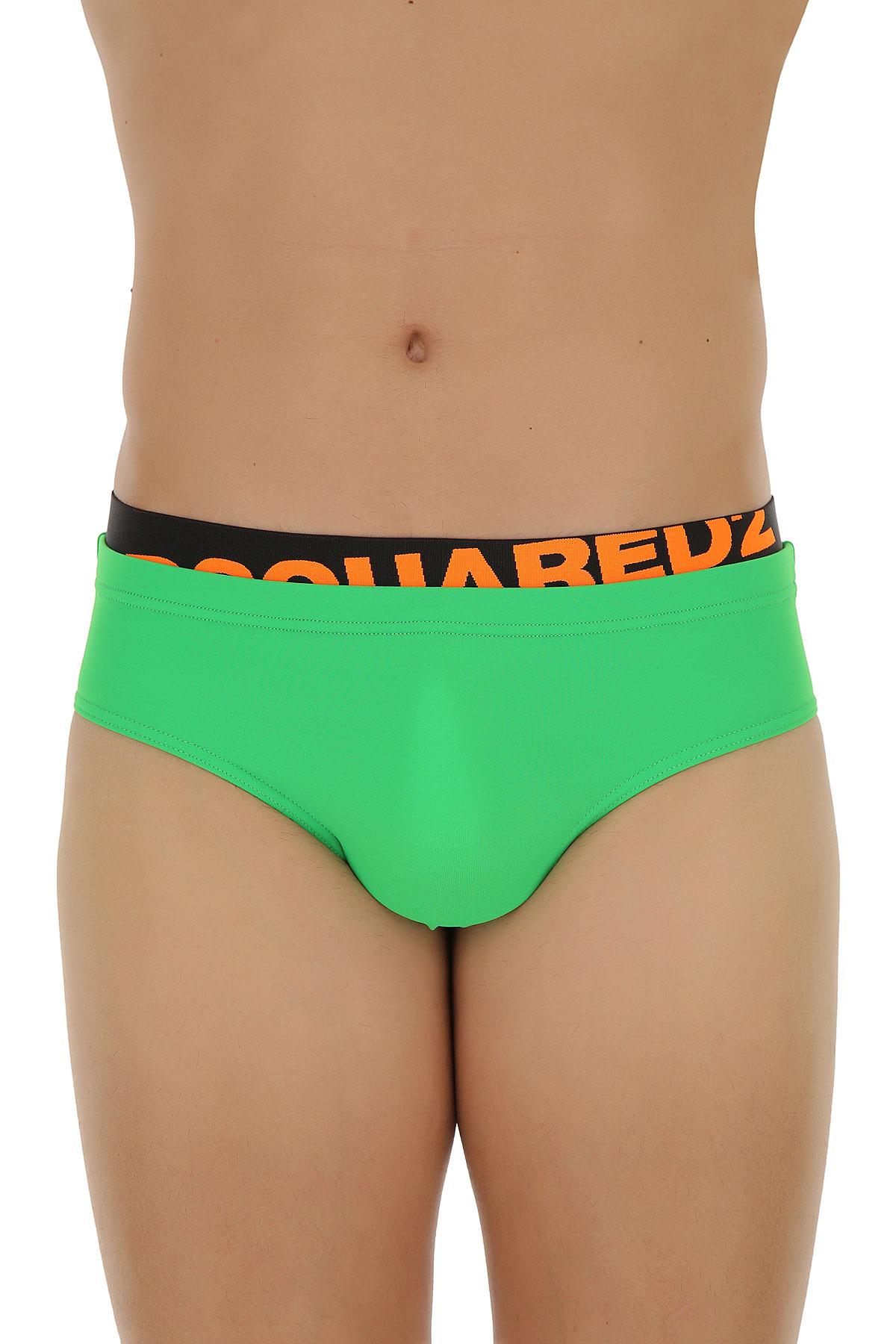 Image of Dsquared2 Swim Briefs for Men On Sale, Absinthe Green, polyamide, 2017, M (EU 48) L (EU 50) XL (EU 52)