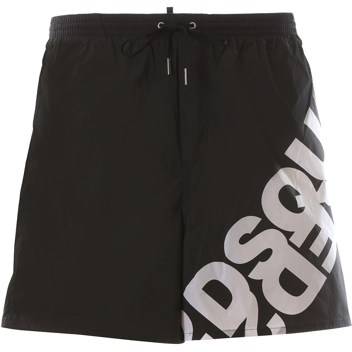 Dsquared2 Board Shorts for Men On Sale, Black, polyamide, 2019, S (EU 46) M (EU 48) L (EU 50) XL (EU 52)