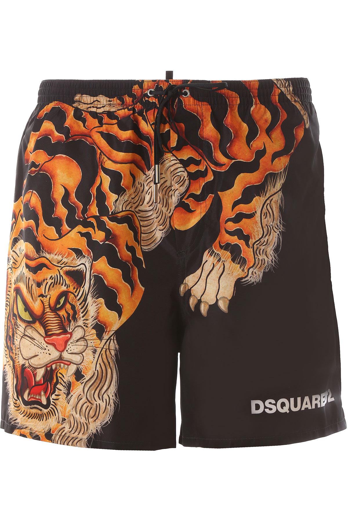 Dsquared2 Board Shorts for Men On Sale, Black, polyester, 2019, S (EU 46) M (EU 48) L (EU 50) XL (EU 52)