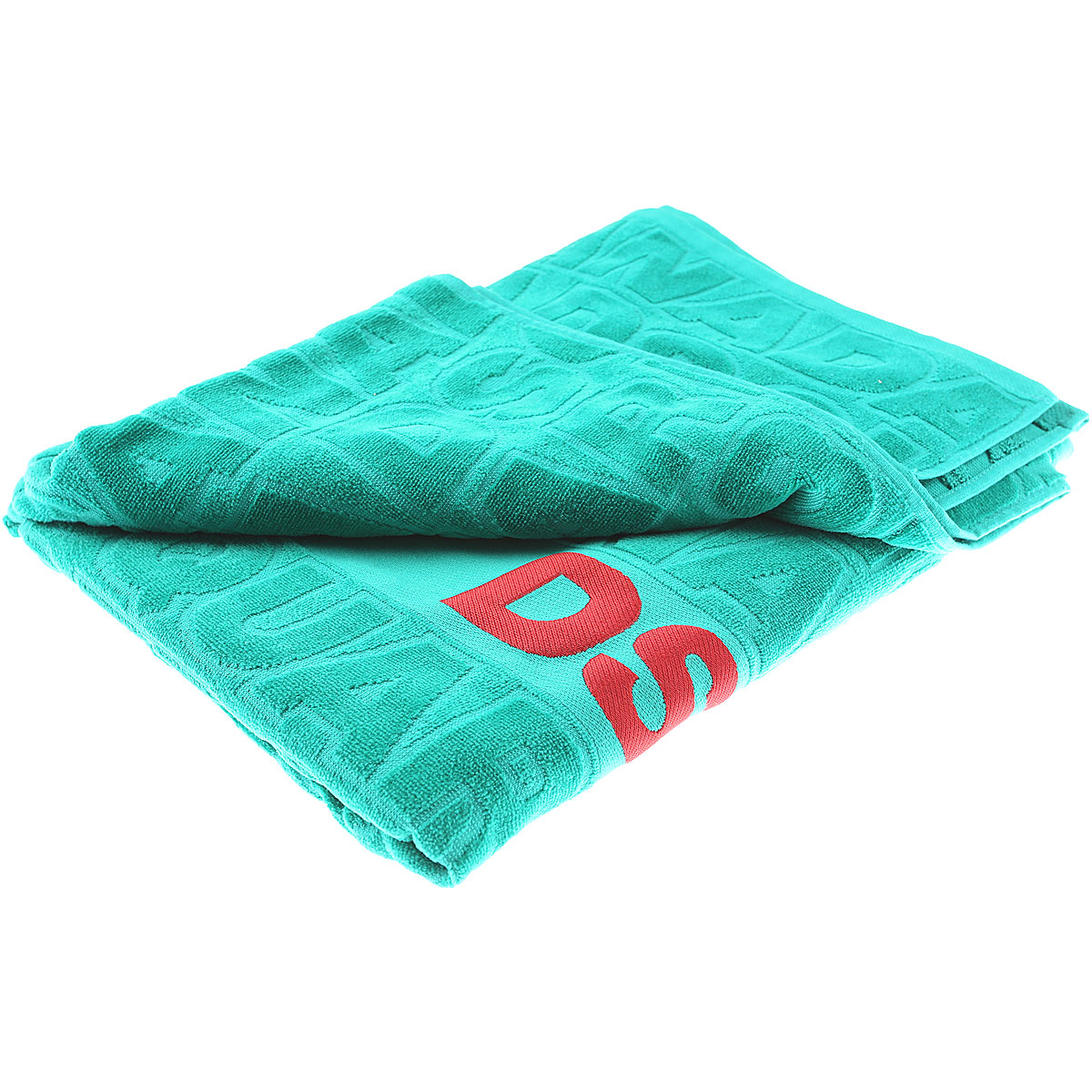 Dsquared2 Beach Towel On Sale, Emerald Green, Cotton, 2019