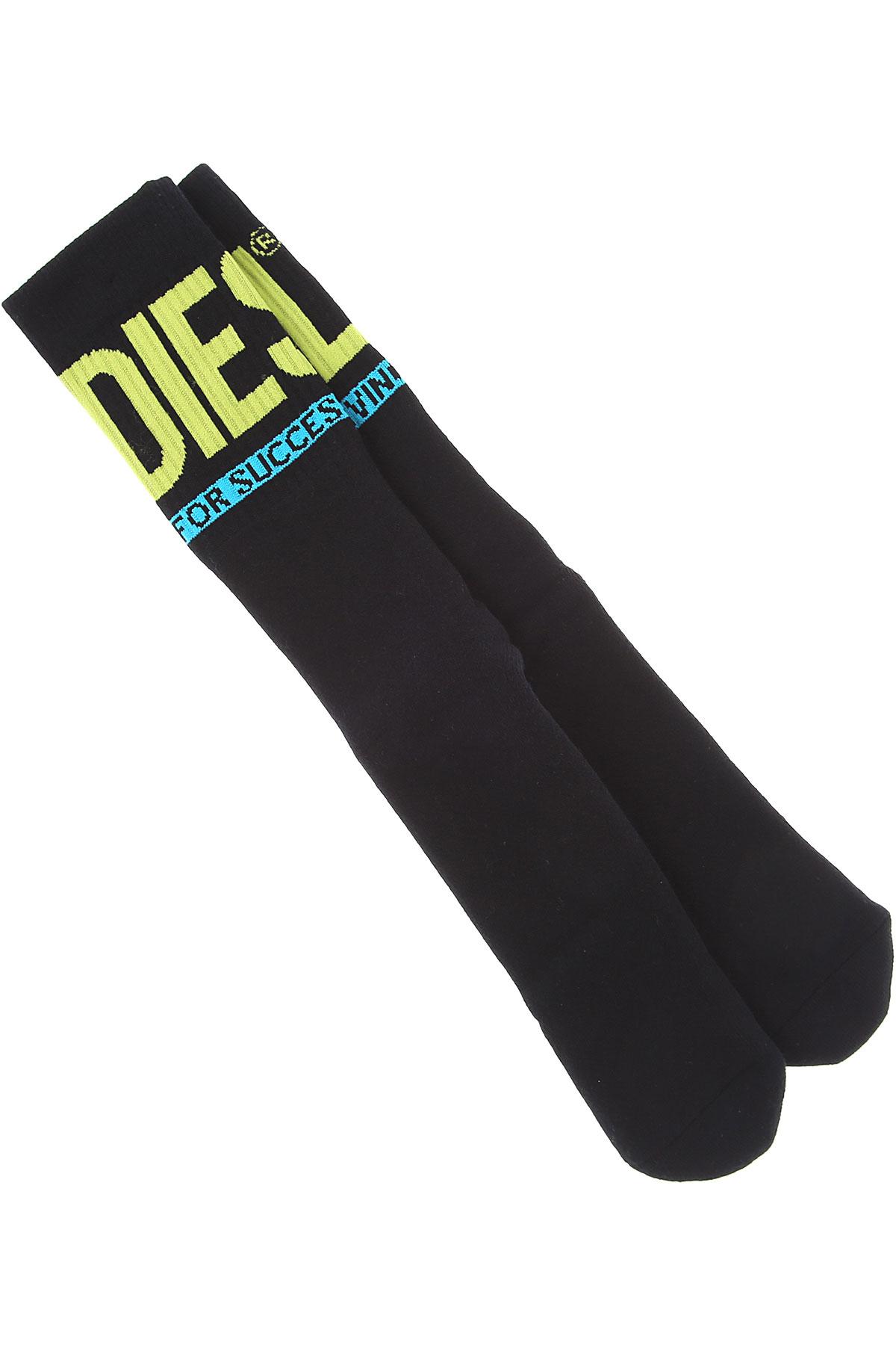 Diesel Socks Socks for Men On Sale in Outlet, Black, Cotton, 2019, M (39 - 42) L (43 - 46)
