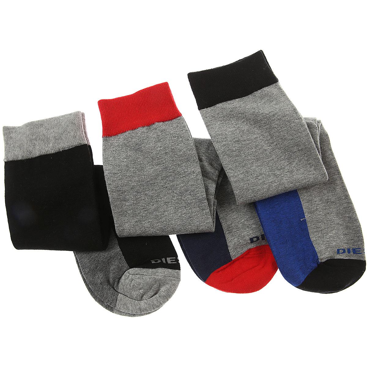 Image of Diesel Socks Mens Underwear, 3 Pack, Grey Melange, Cotton, 2017, M (39 - 42) L (43 - 46)
