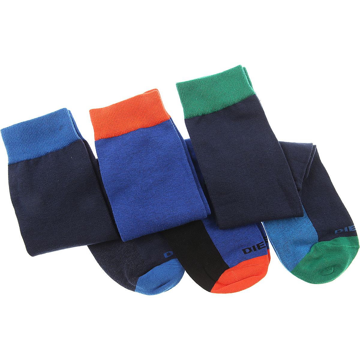 Image of Diesel Socks Socks for Men, 3 Pack, Blue, Cotton, 2017, M (39 - 42) L (43 - 46)