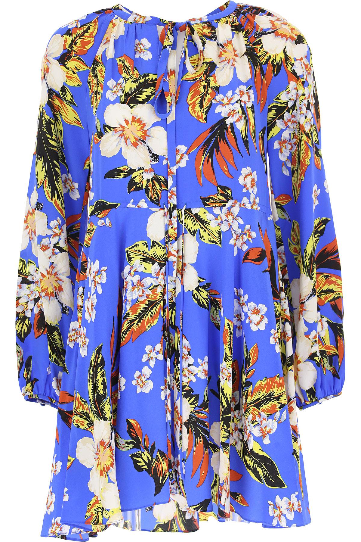 Image of Diane Von Furstenberg Dress for Women, Evening Cocktail Party, Blue, Silk, 2017, 2 6