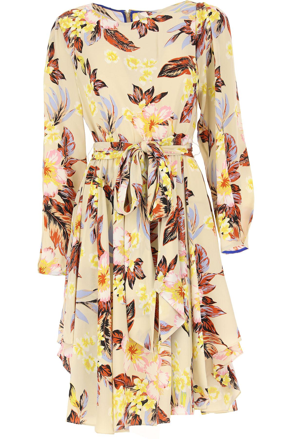 Image of Diane Von Furstenberg Dress for Women, Evening Cocktail Party, Beige, Silk, 2017, USA 2 - IT 38 USA 4 - IT 40 USA 6 - IT 42 USA 8 - IT 44 USA 10 - IT 46