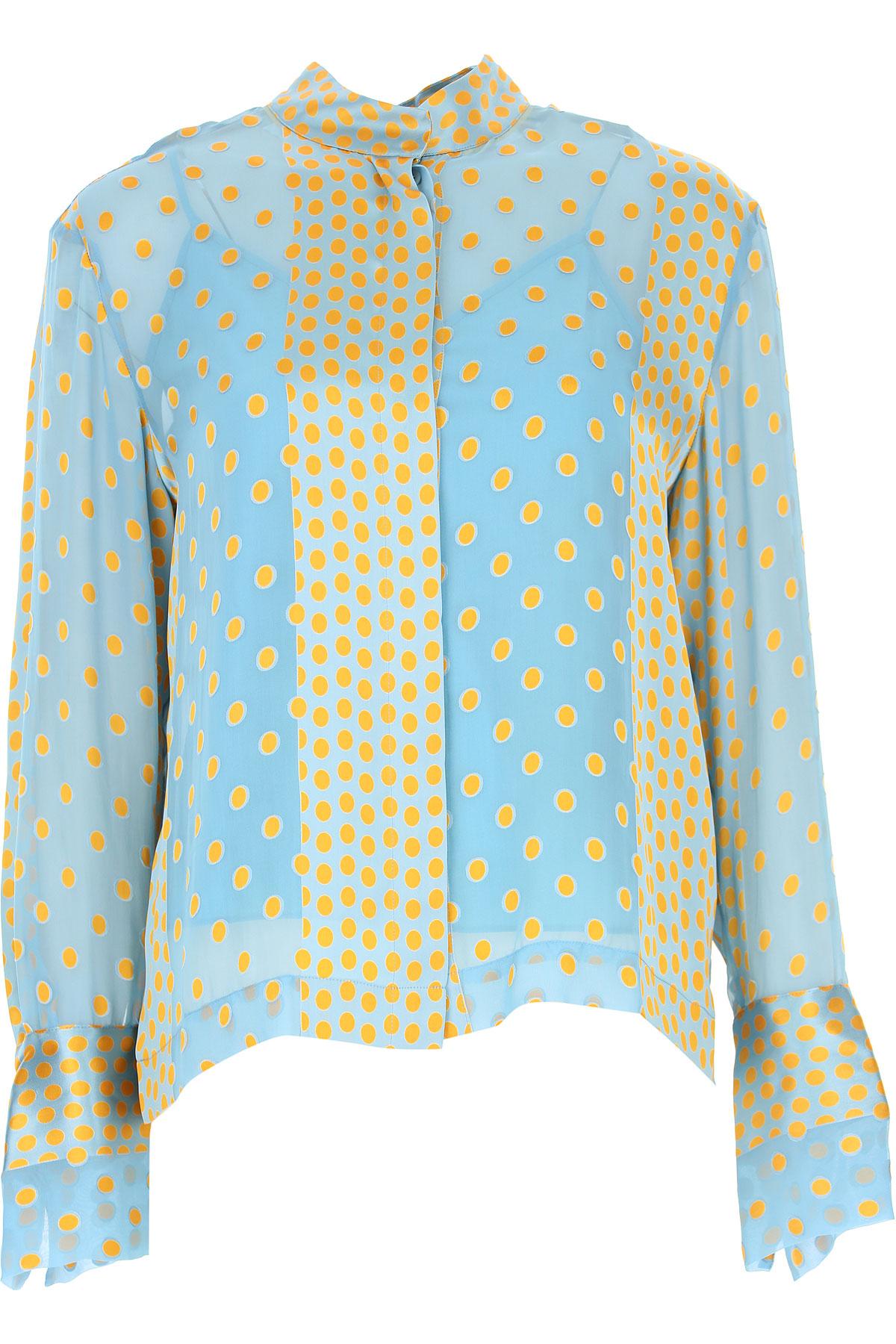 Image of Diane Von Furstenberg Shirt for Women, Pacific Blue, Silk, 2017, USA 4 - IT 40 USA 6 - IT 42