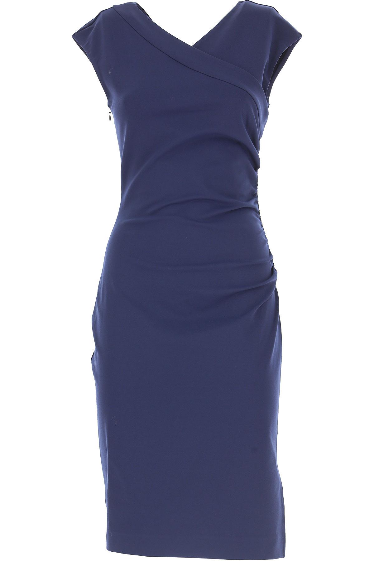 Image of Diane Von Furstenberg Dress for Women, Evening Cocktail Party, navy, Viscose, 2017, USA 4 - IT 40 USA 6 - IT 42 USA 8 - IT 44 USA 10 - IT 46 USA 12 - IT 48
