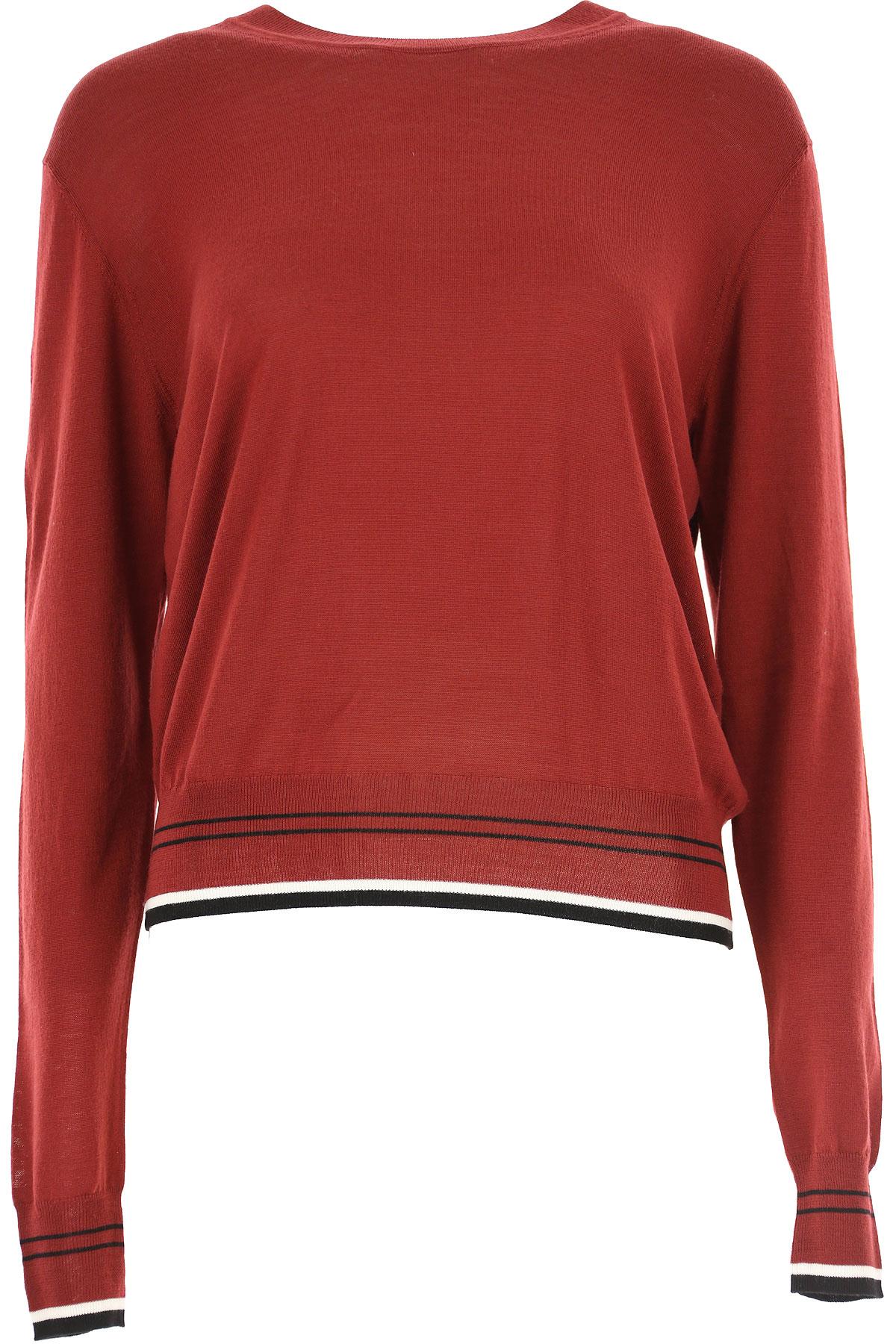 Image of Diane Von Furstenberg Sweater for Women Jumper, oxblood, merino wool, 2017, 4 8