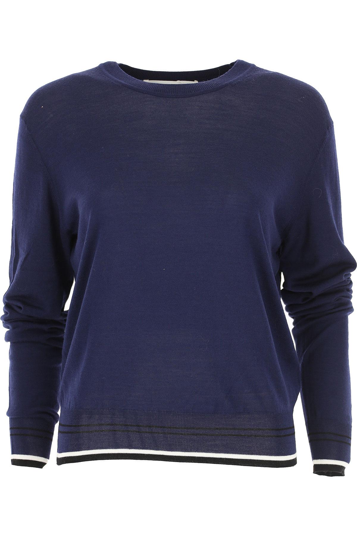 Image of Diane Von Furstenberg Sweater for Women Jumper, navy, merino wool, 2017, 4 6 8