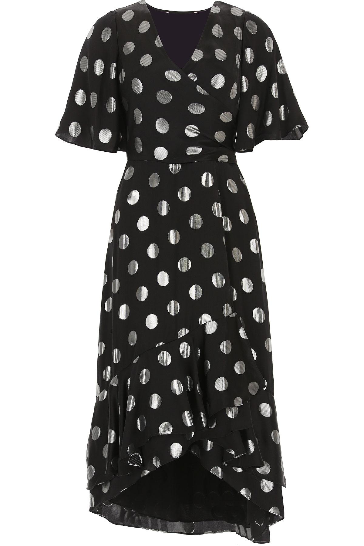 Diane Von Furstenberg Dress for Women, Evening Cocktail Party On Sale, Black, Silk, 2019, 4 6 8