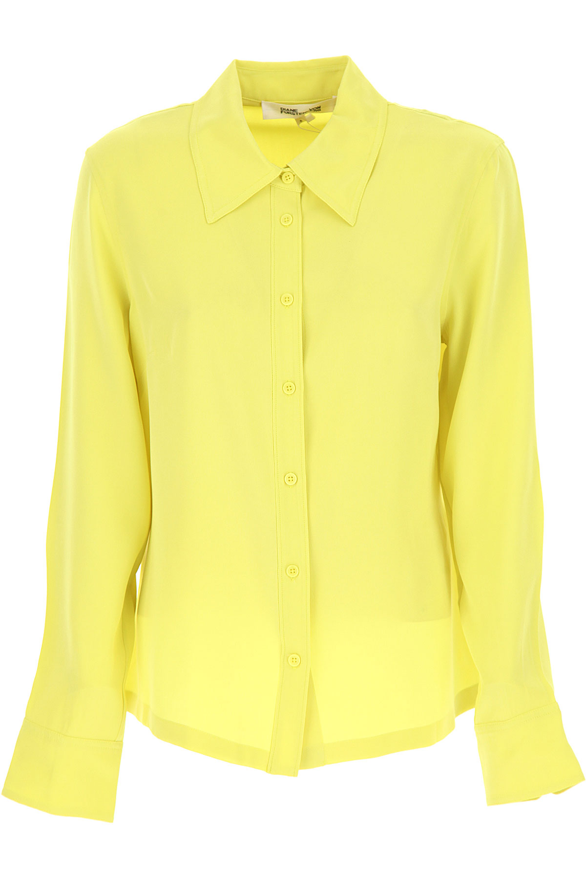 Diane Von Furstenberg Top for Women On Sale, Acid Yellow, Silk, 2019, 4 6 8