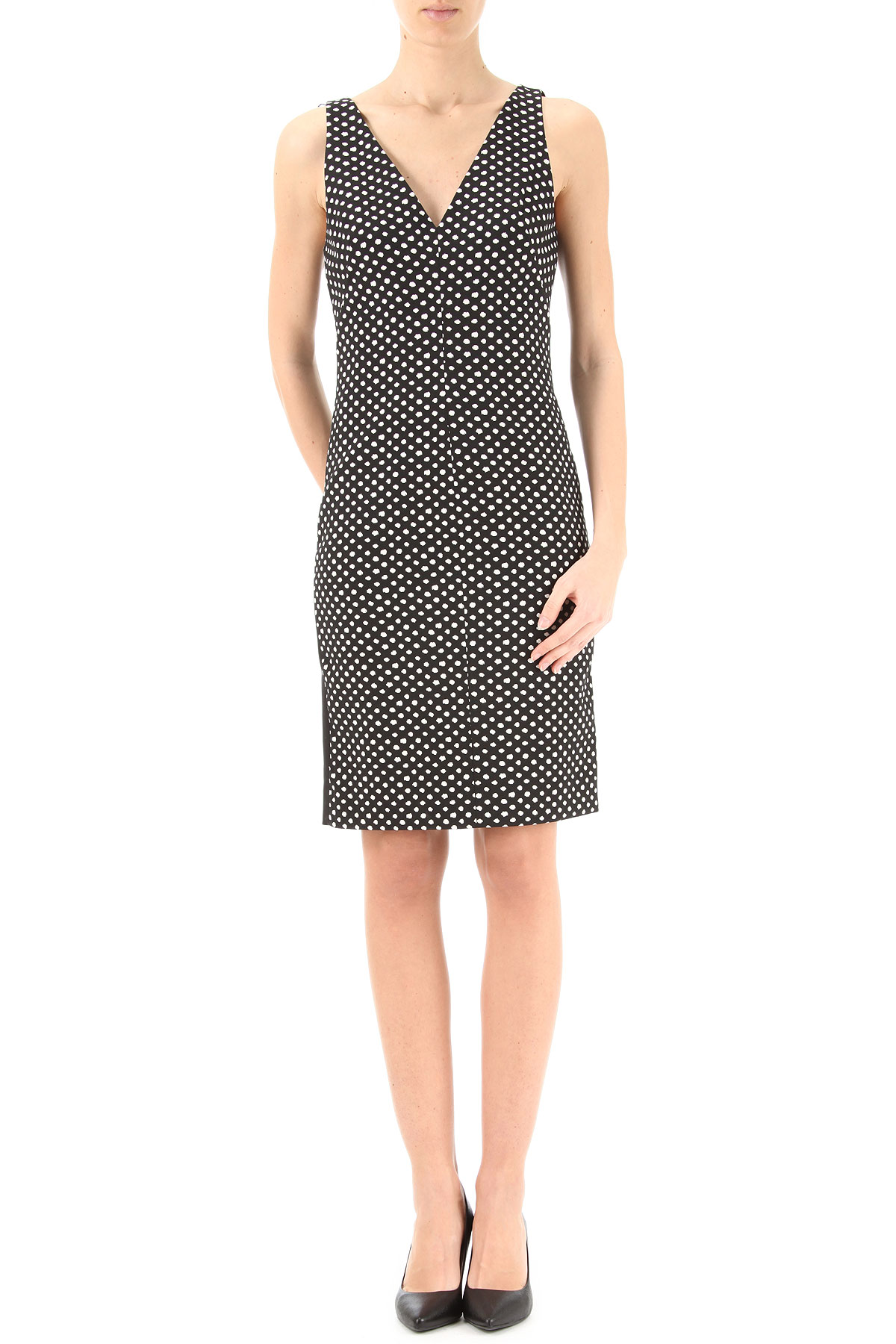 Diane Von Furstenberg Dress for Women, Evening Cocktail Party On Sale, Black, polyestere, 2017, USA 8 -- IT 42 USA 10 -- IT 44 USA-349427