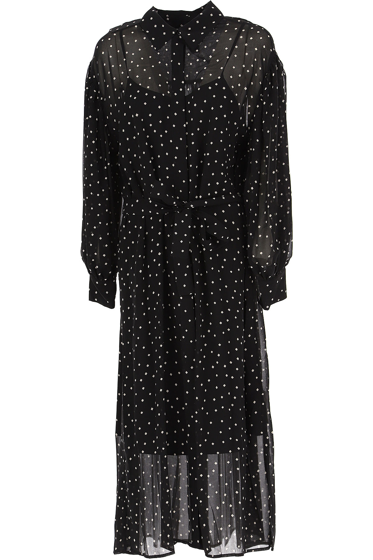 DKNY Dress for Women, Evening Cocktail Party On Sale, Black, polyestere, 2019, 10 2 4 6 8
