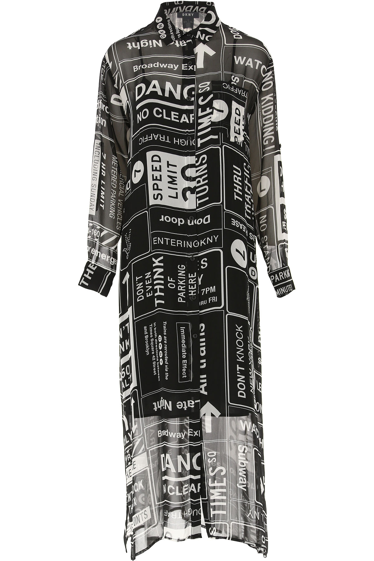 DKNY Dress for Women, Evening Cocktail Party On Sale, Black, polyester, 2019, 4 8