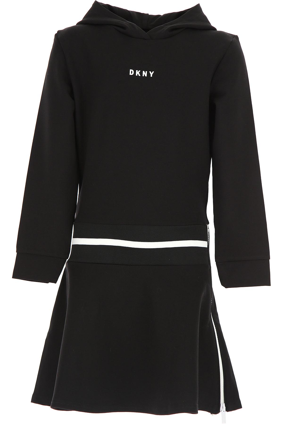 Image of DKNY Girls Dress, Black, Viscose, 2017, 10Y 14Y 16Y 8Y