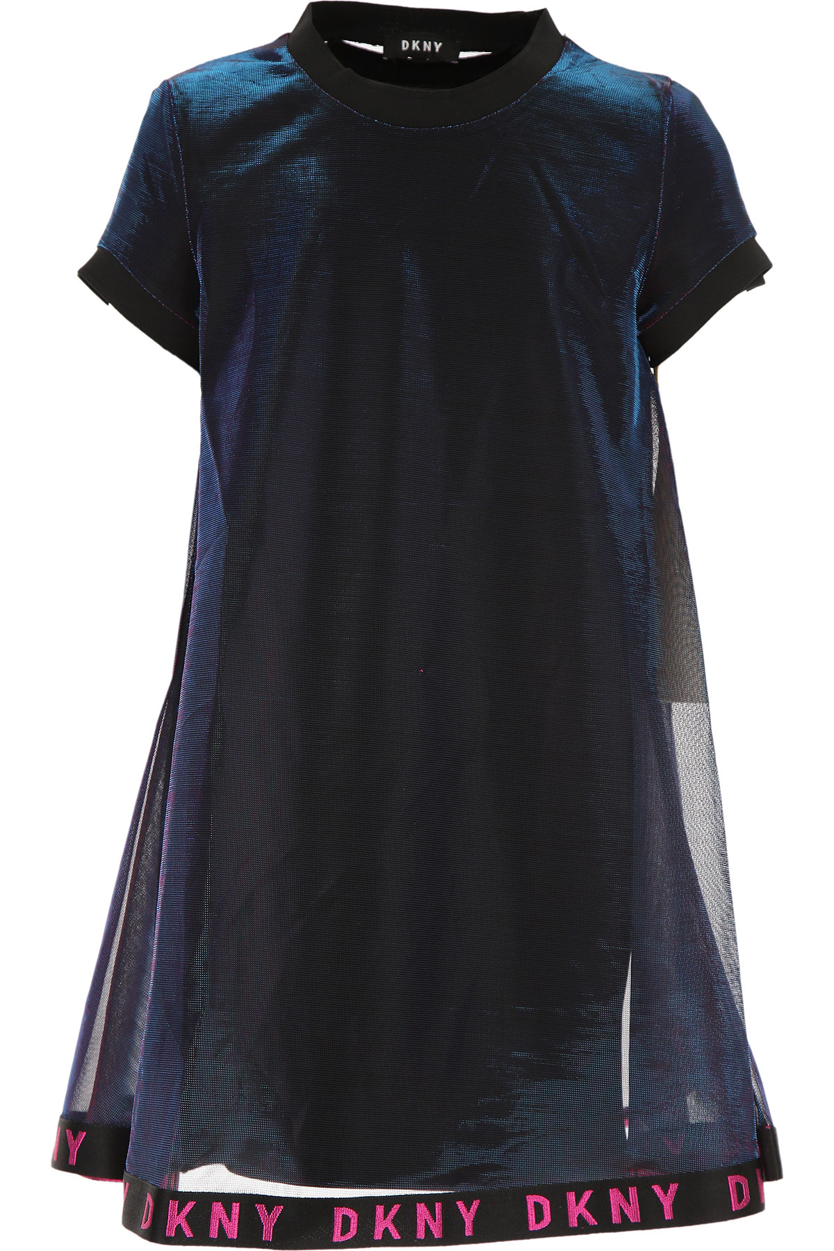 DKNY Girls Dress On Sale, Black, Viscose, 2019, 12Y 14Y 16Y 8Y
