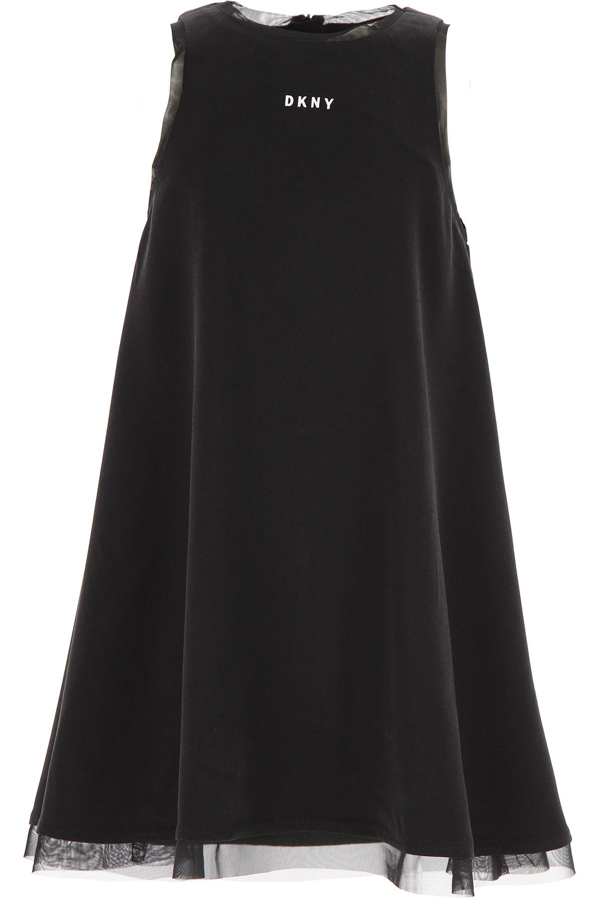 DKNY Girls Dress On Sale, Black, Viscose, 2019, 10Y 12Y 14Y 16Y 6Y 8Y