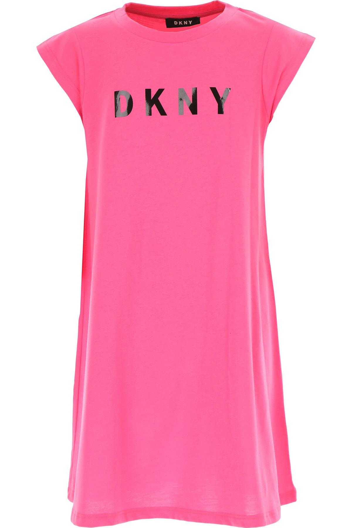 DKNY Girls Dress On Sale, Fuchsia, polyester, 2019, 10Y 12Y 16Y 6Y 8Y