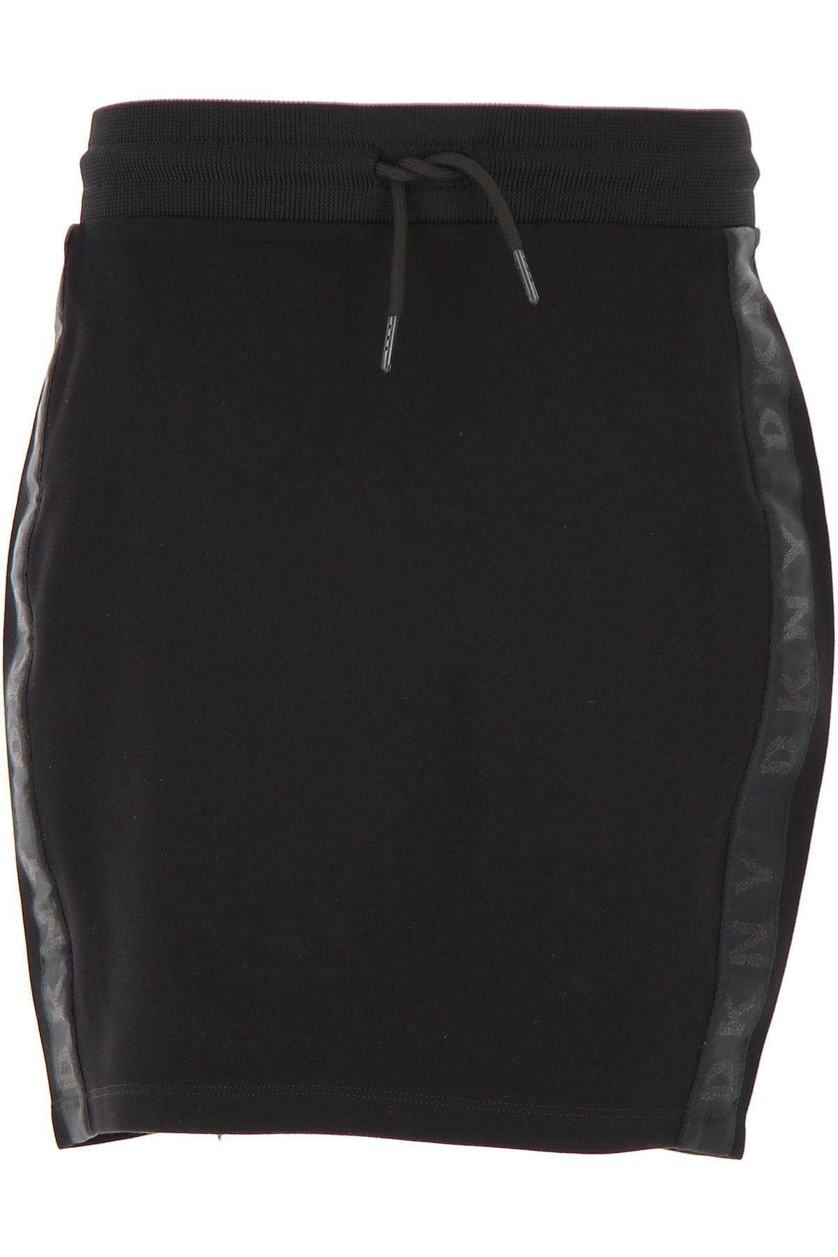 DKNY Kids Skirts for Girls On Sale, Black, viscosa, 2019, 12Y 14Y 16Y 8Y