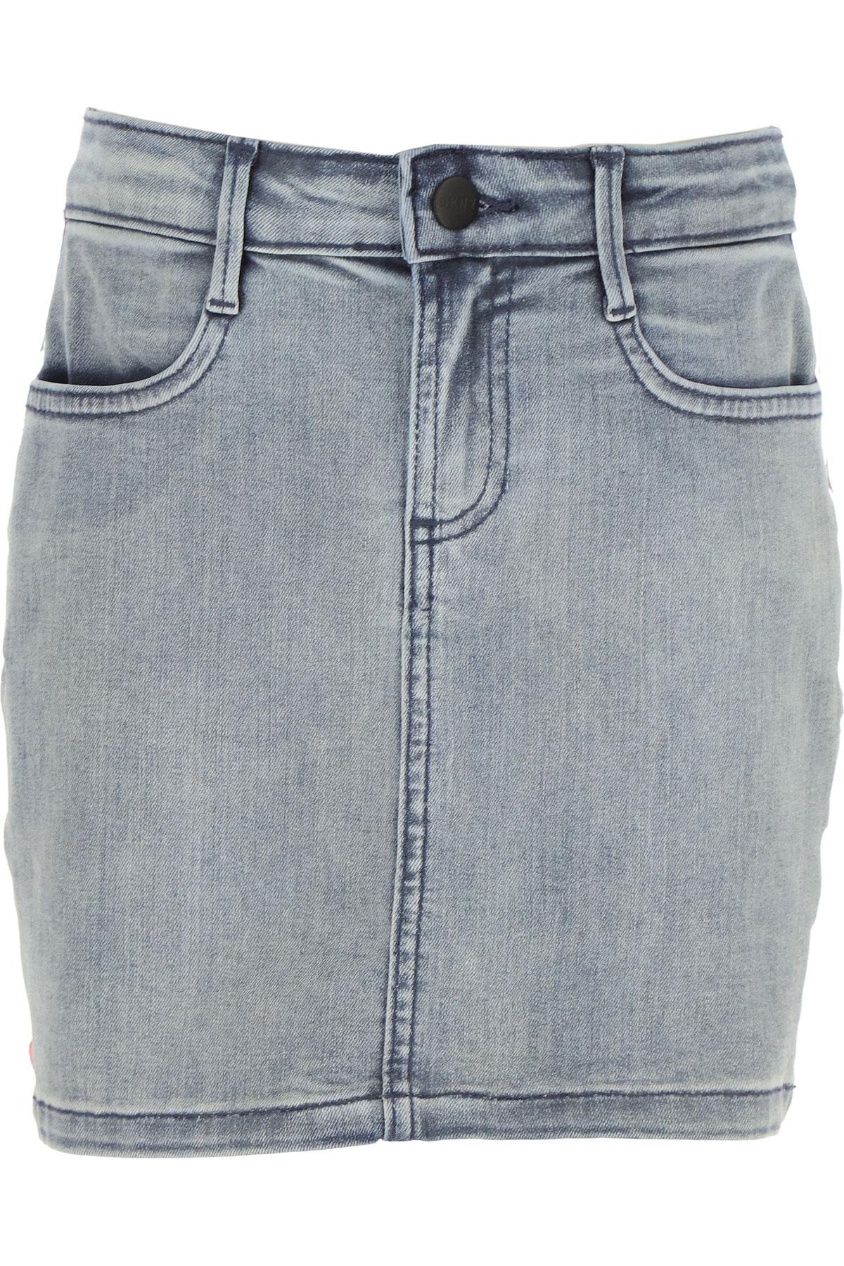 DKNY Kids Skirts for Girls On Sale, Blue Denim, Cotton, 2019, 10Y 12Y 14Y 16Y