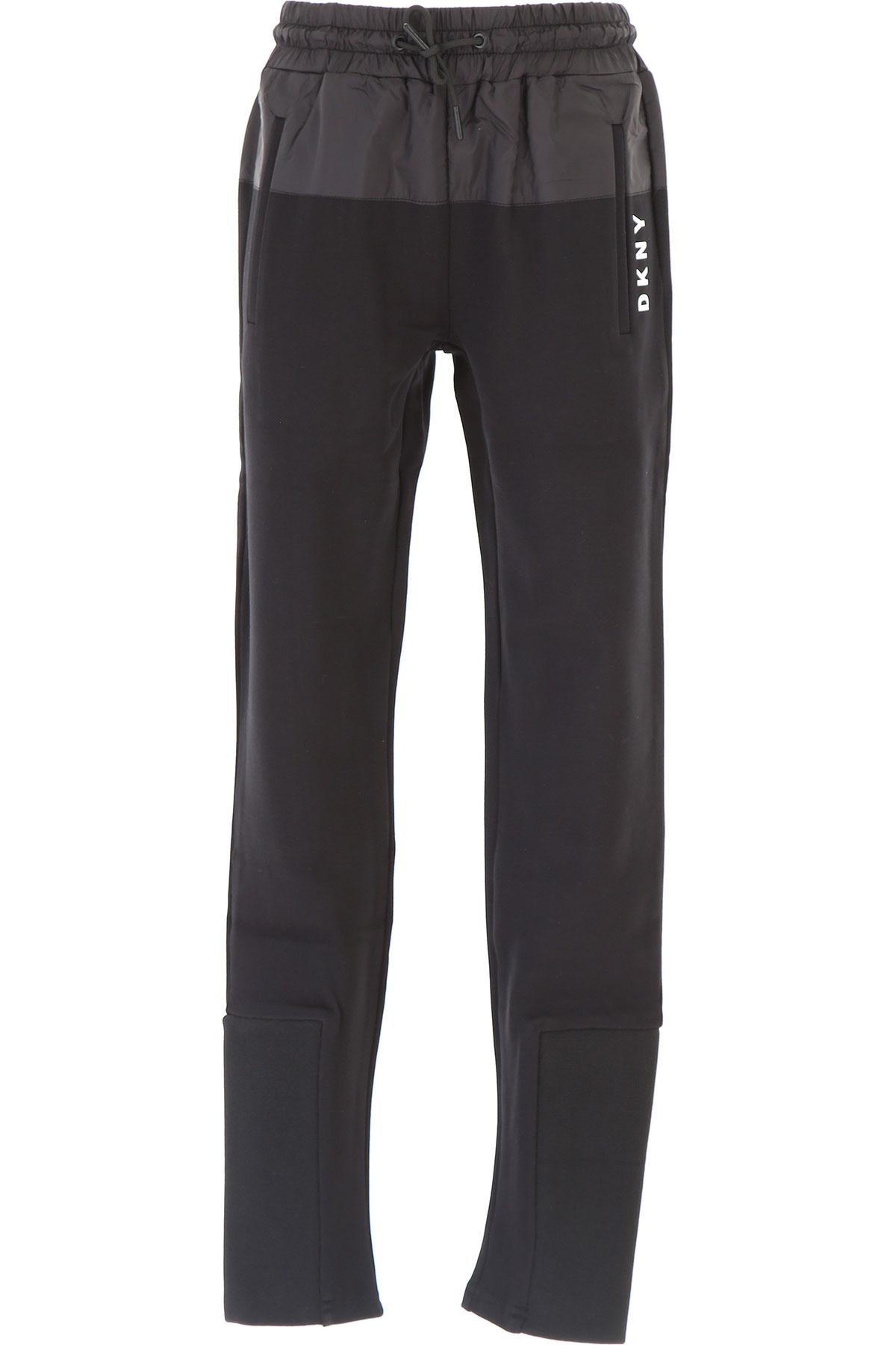 Image of DKNY Kids Sweatpants for Girls, Black, Viscose, 2017, 10Y 14Y 16Y 8Y
