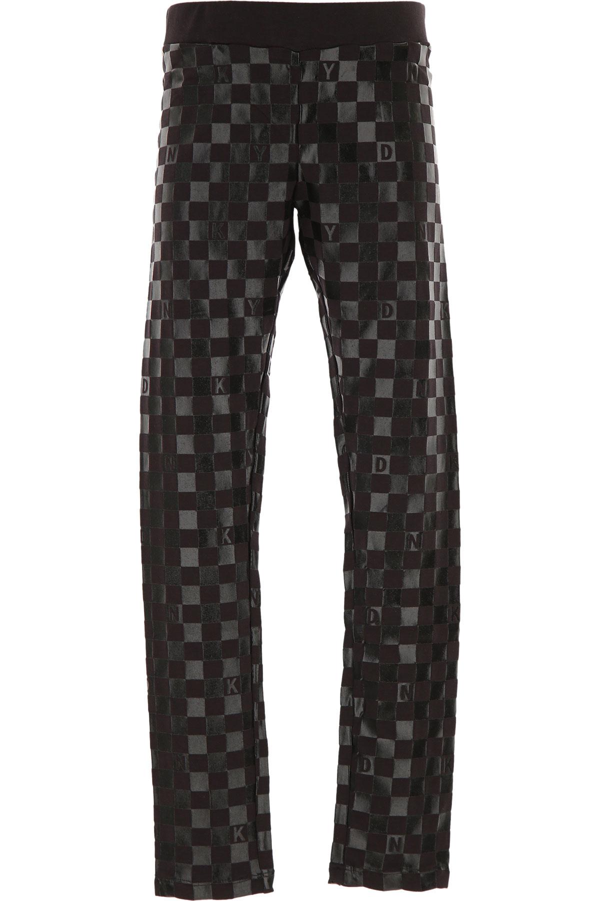 DKNY Kids Pants for Girls On Sale, Black, Cotton, 2019, 10Y 12Y 14Y 16Y 8Y
