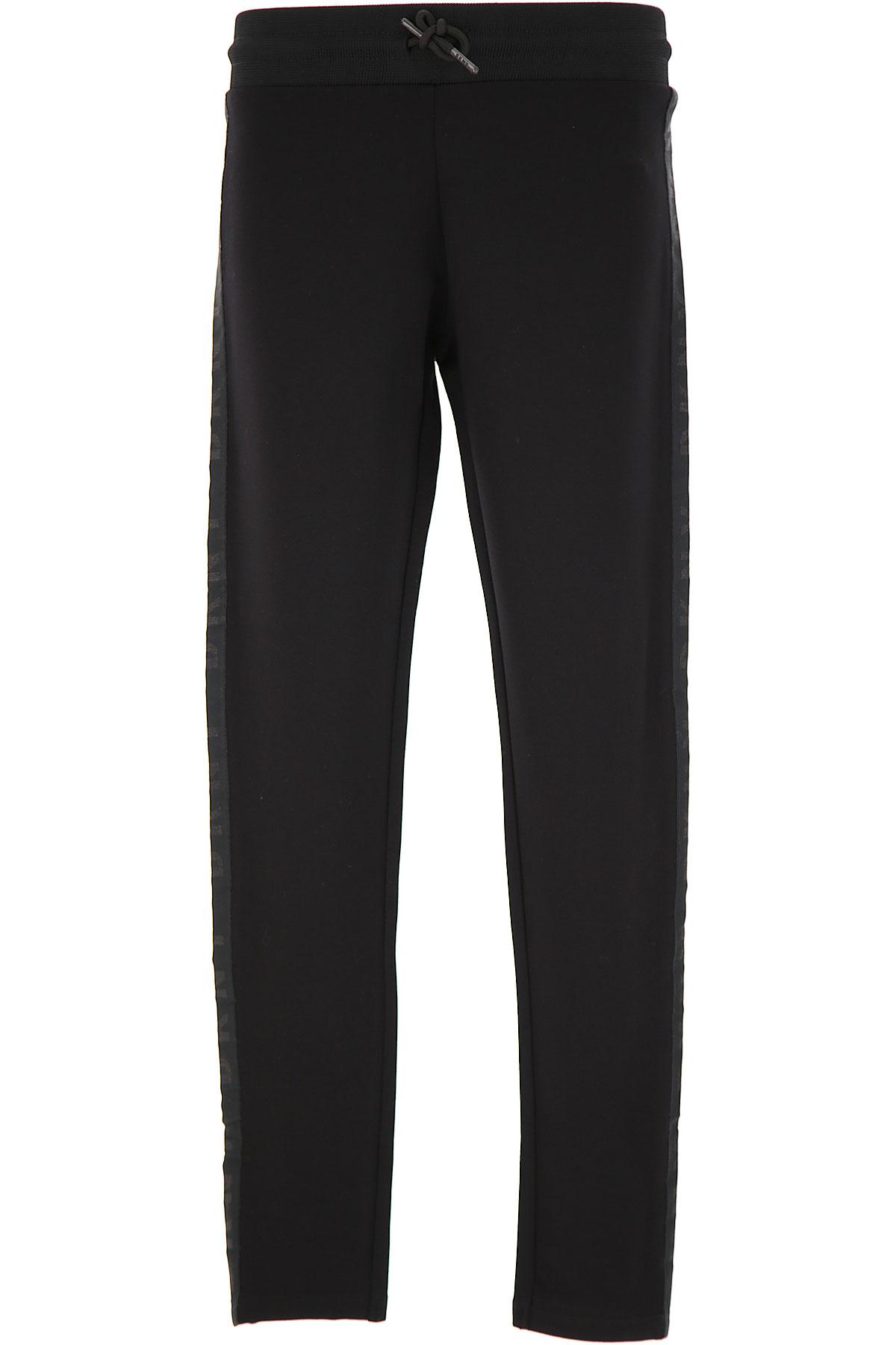 DKNY Kids Pants for Girls On Sale, Black, viscosa, 2019, 10Y 8Y