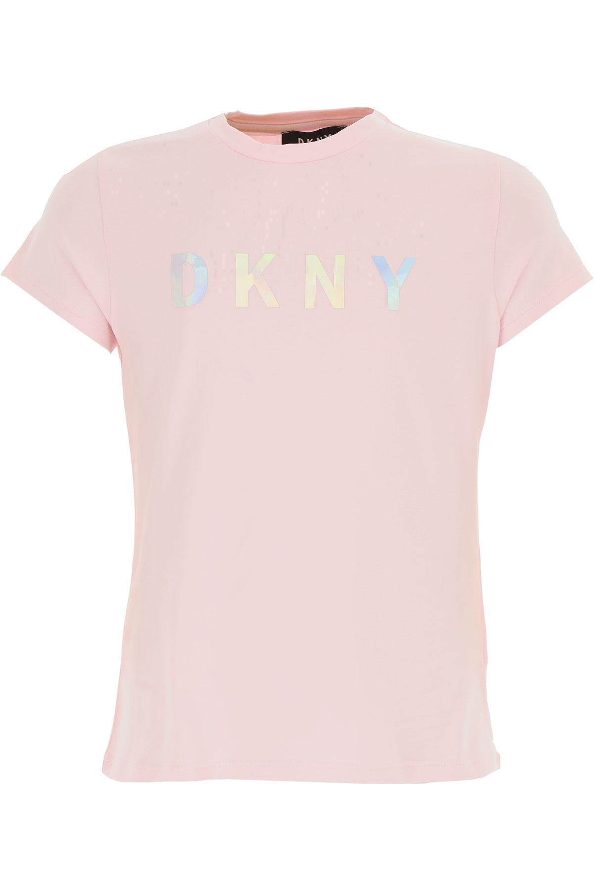 DKNY Kids T-Shirt for Girls On Sale, Pink, Cotton, 2019, 10Y 12Y 14Y 16Y 8Y