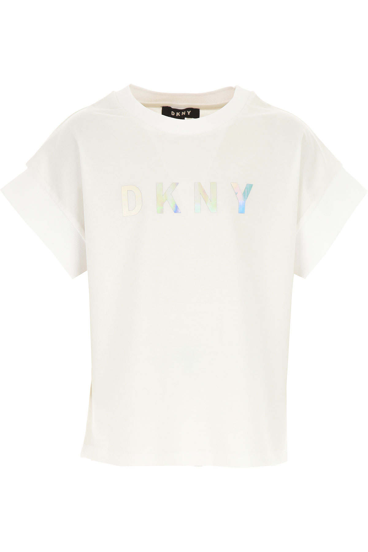 DKNY Kids T-Shirt for Girls On Sale, White, Viscose, 2019, 14Y 8Y