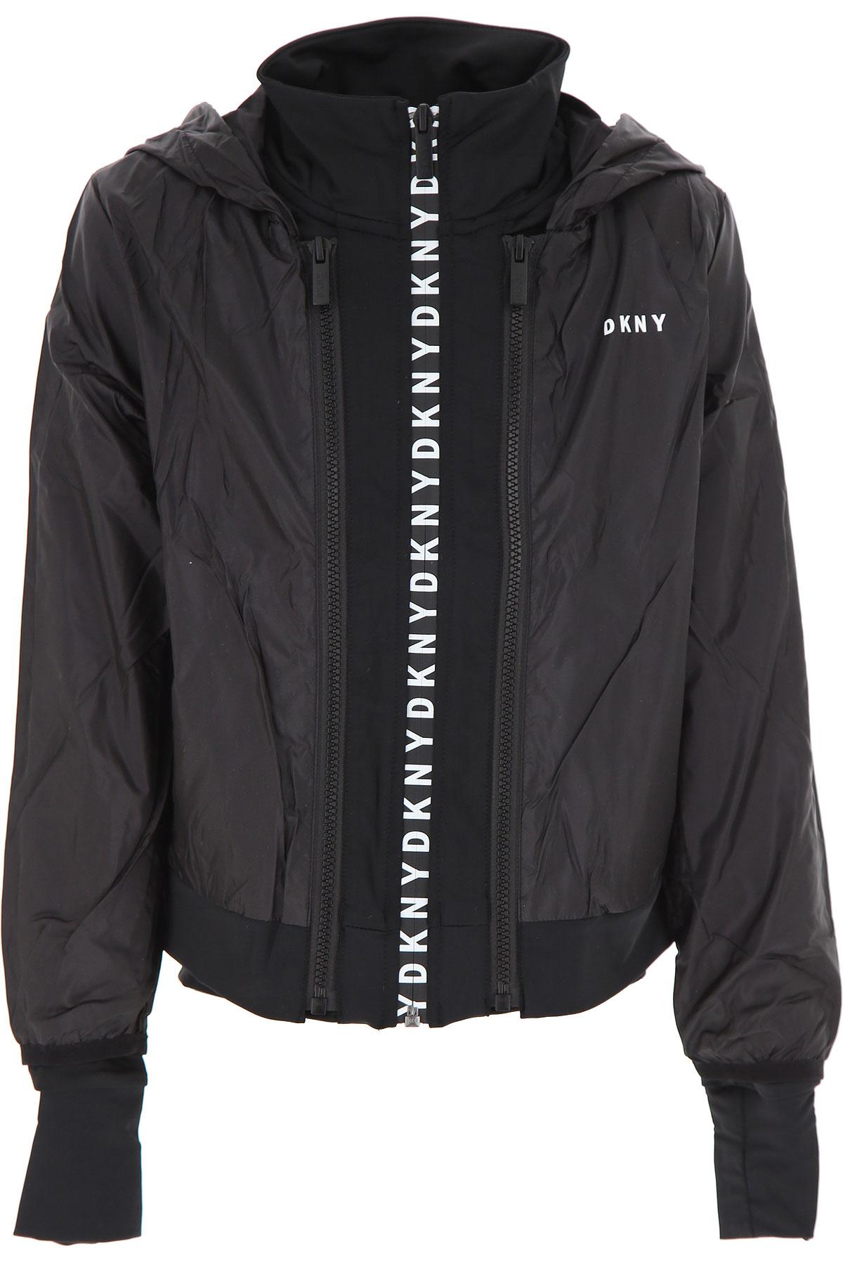 DKNY Kids Jacket for Girls On Sale, Black, polyamide, 2019, 10Y 6Y 8Y