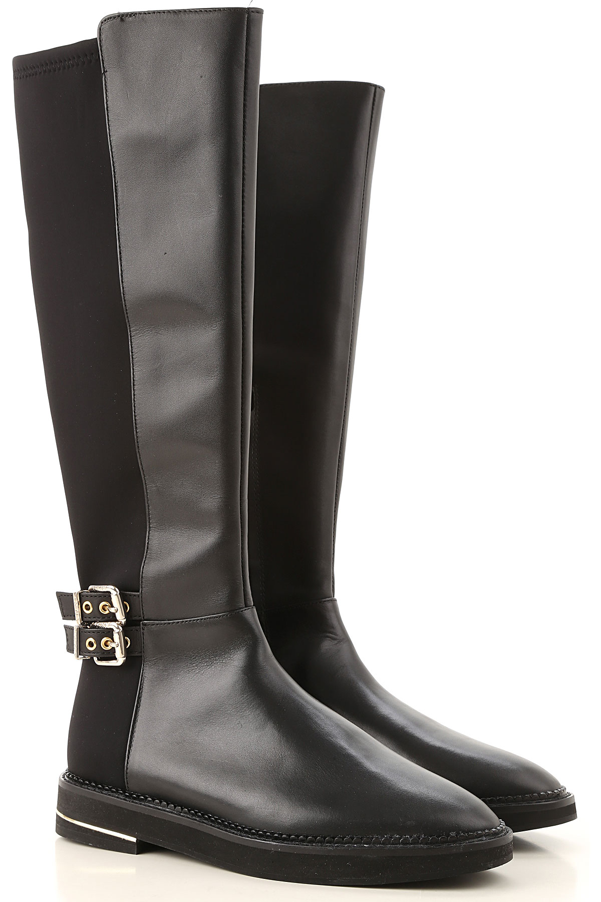DKNY Boots for Women, Booties On Sale in Outlet, Black, Leather, 2019, 10 6 6.5 8.5 9