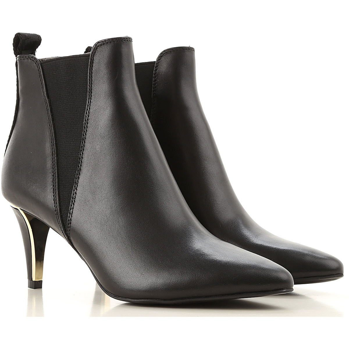 DKNY Boots for Women, Booties On Sale, Black, Leather, 2019, US 6 - UK 3 5 - EU 36 - JP 22 5 US 7 5 - UK 5 - EU 38 - JP 24 US 9 - UK 6 5 - EU 40 - JP