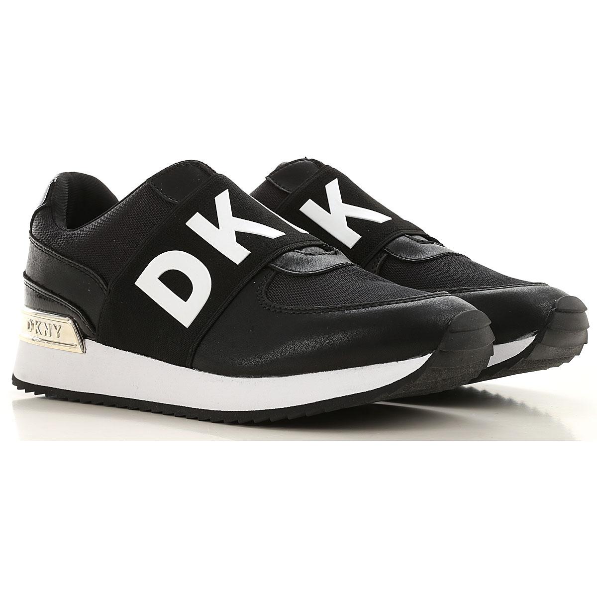 DKNY Sneaker Femme, Noir, Cuir, 2019, 38 40