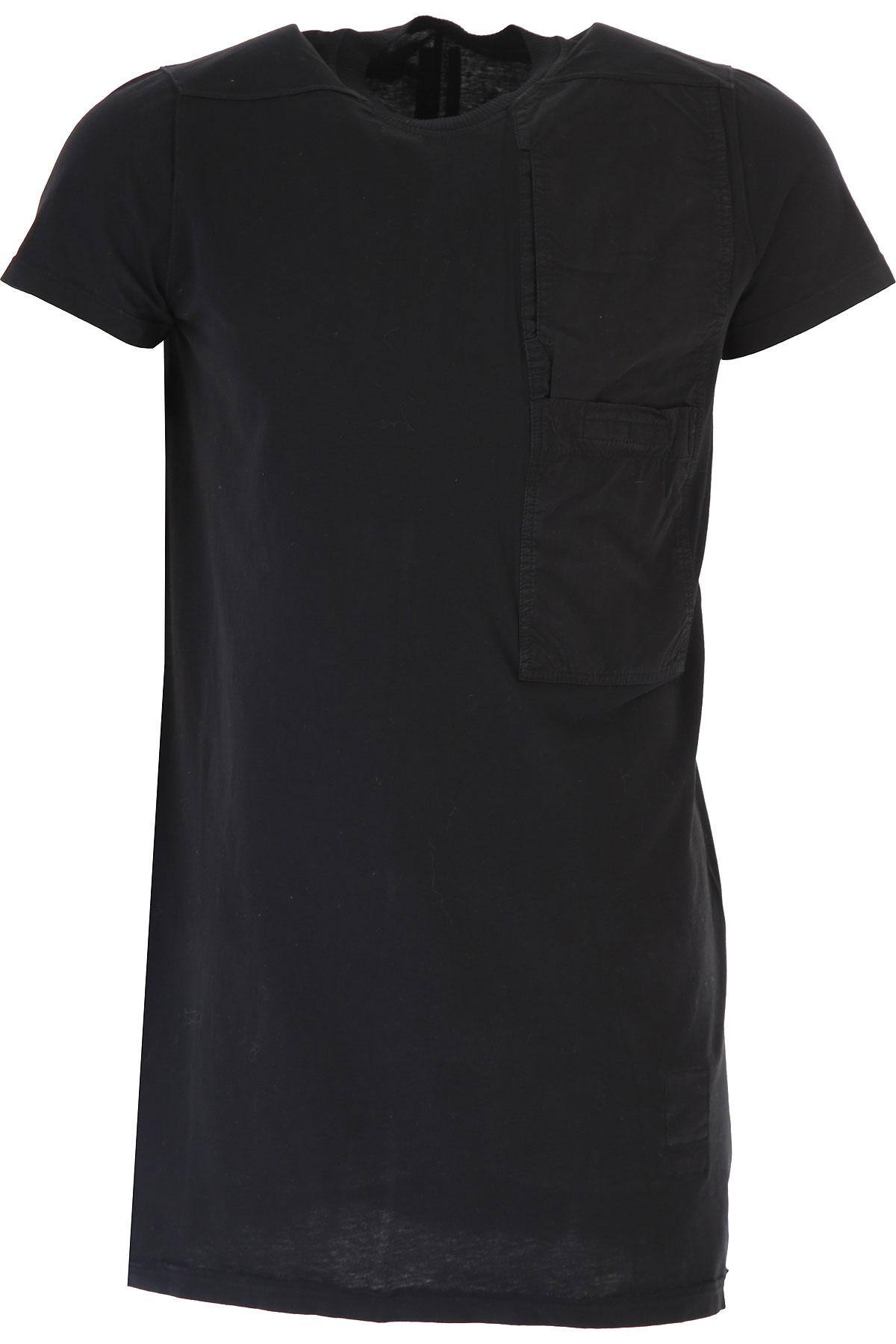 Rick Owens DRKSHDW T-Shirt for Men On Sale in Outlet, Black, Cotton, 2019, M S