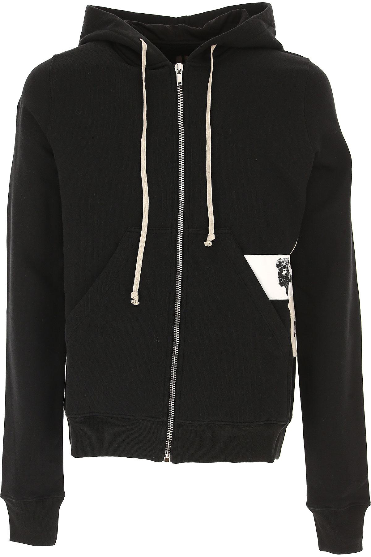 Rick Owens DRKSHDW Sweatshirt for Men On Sale in Outlet, Black, Cotton, 2017, L M USA-439424