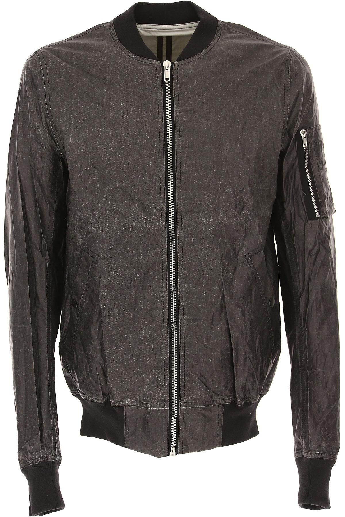 Image of Rick Owens DRKSHDW Jacket for Men On Sale in Outlet, Black, Cotton, 2017, L M S