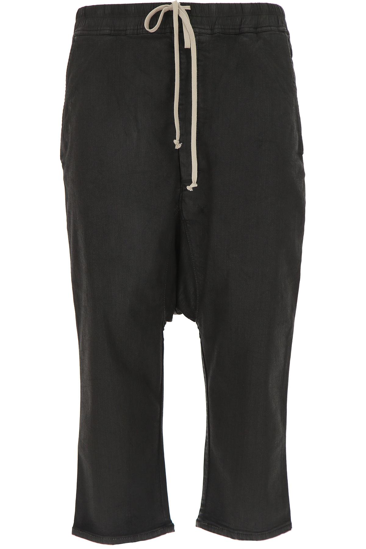 Image of Rick Owens DRKSHDW Mens Clothing, Black, Cotton, 2017, L M S XS