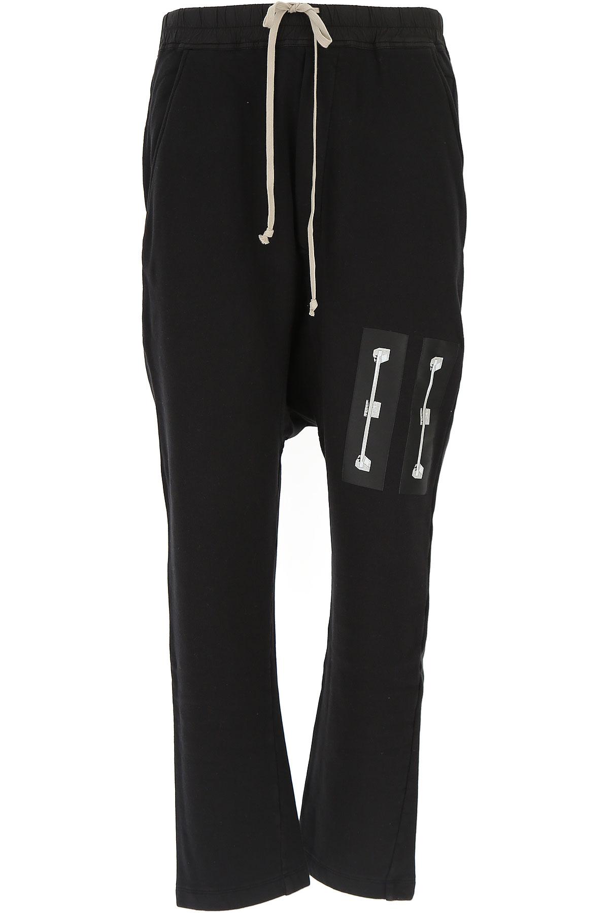 Image of Rick Owens DRKSHDW Mens Clothing, Black, Cotton, 2017, L M S