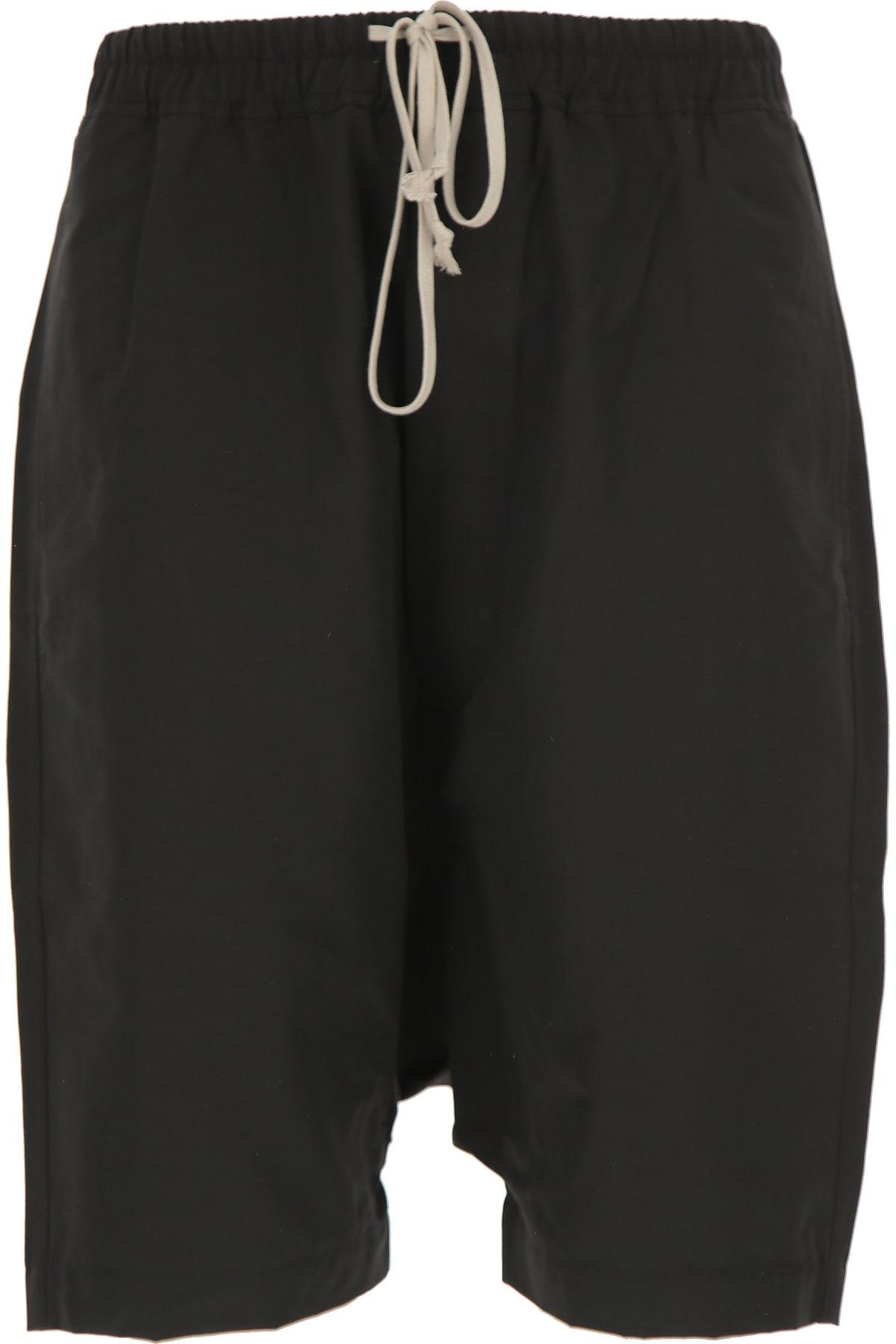Rick Owens DRKSHDW Shorts for Men On Sale in Outlet, Black, Cotton, 2019, L (EU 50) M (EU 48)